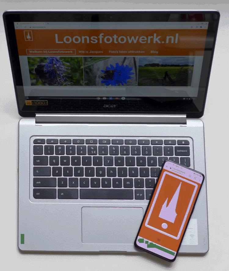 Fotoblog. zowel via laptop, tablet en moebiel is Loonsfotowerk te bekijken