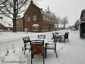 Kerkstraat en omgeving in de sneeuw
