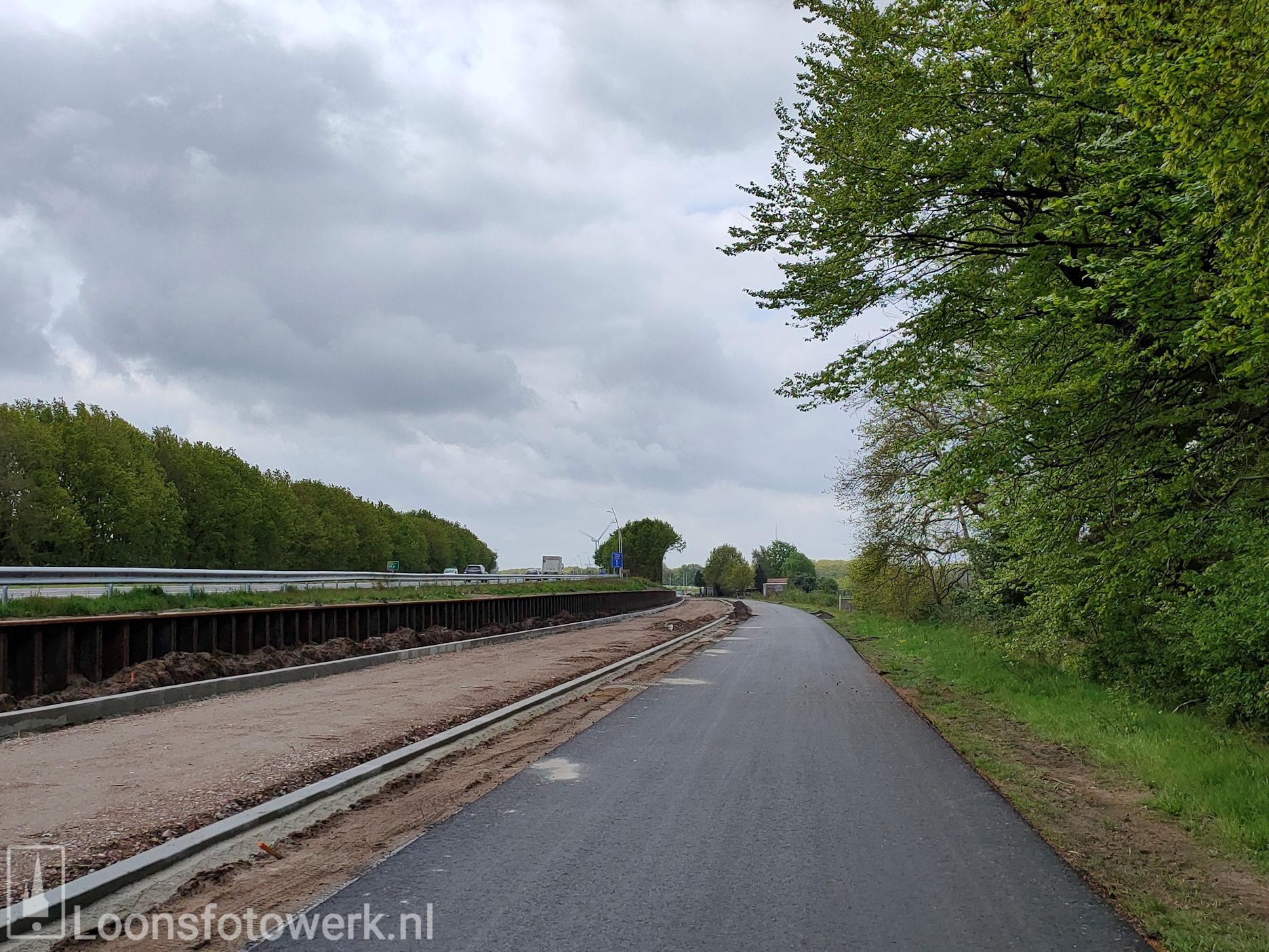 Werkzaamheden fietspad Heideweg vorderen 4
