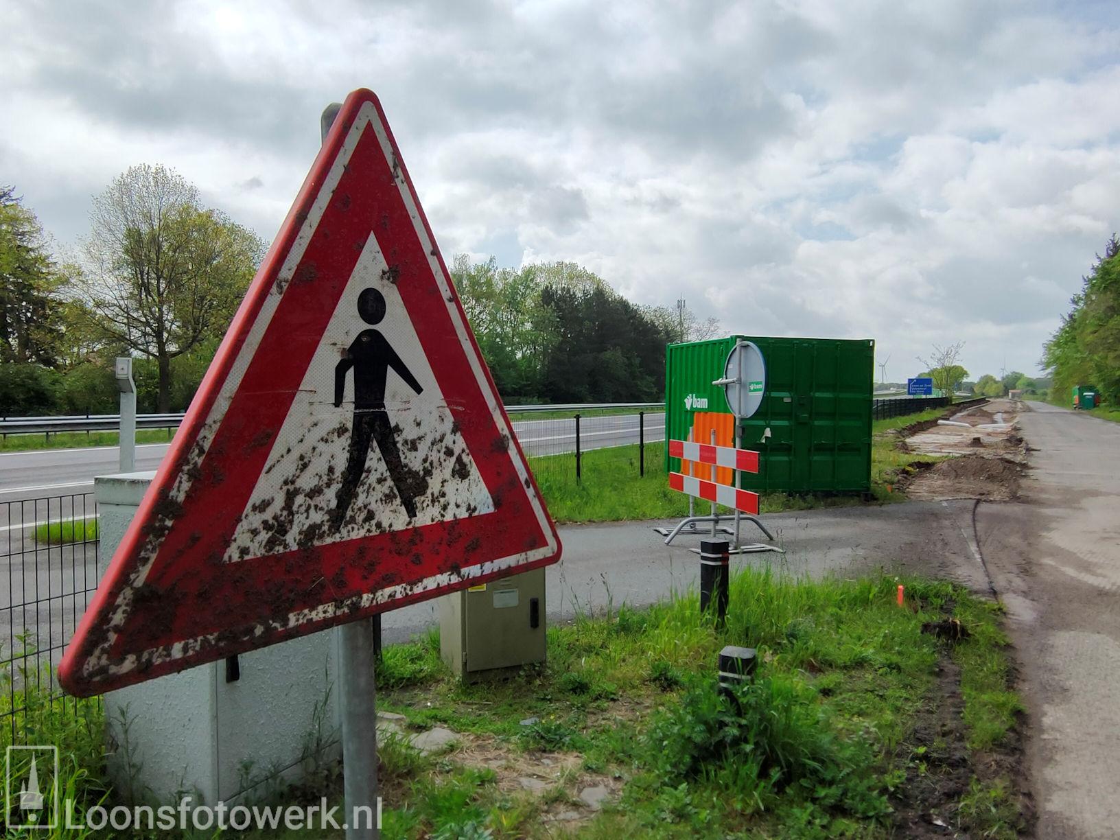 Werkzaamheden fietspad Heideweg vorderen 14