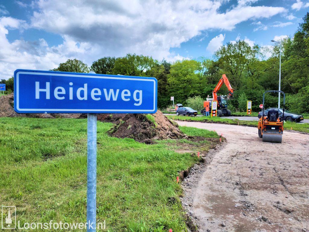 Voortgang fietspad Heideweg
