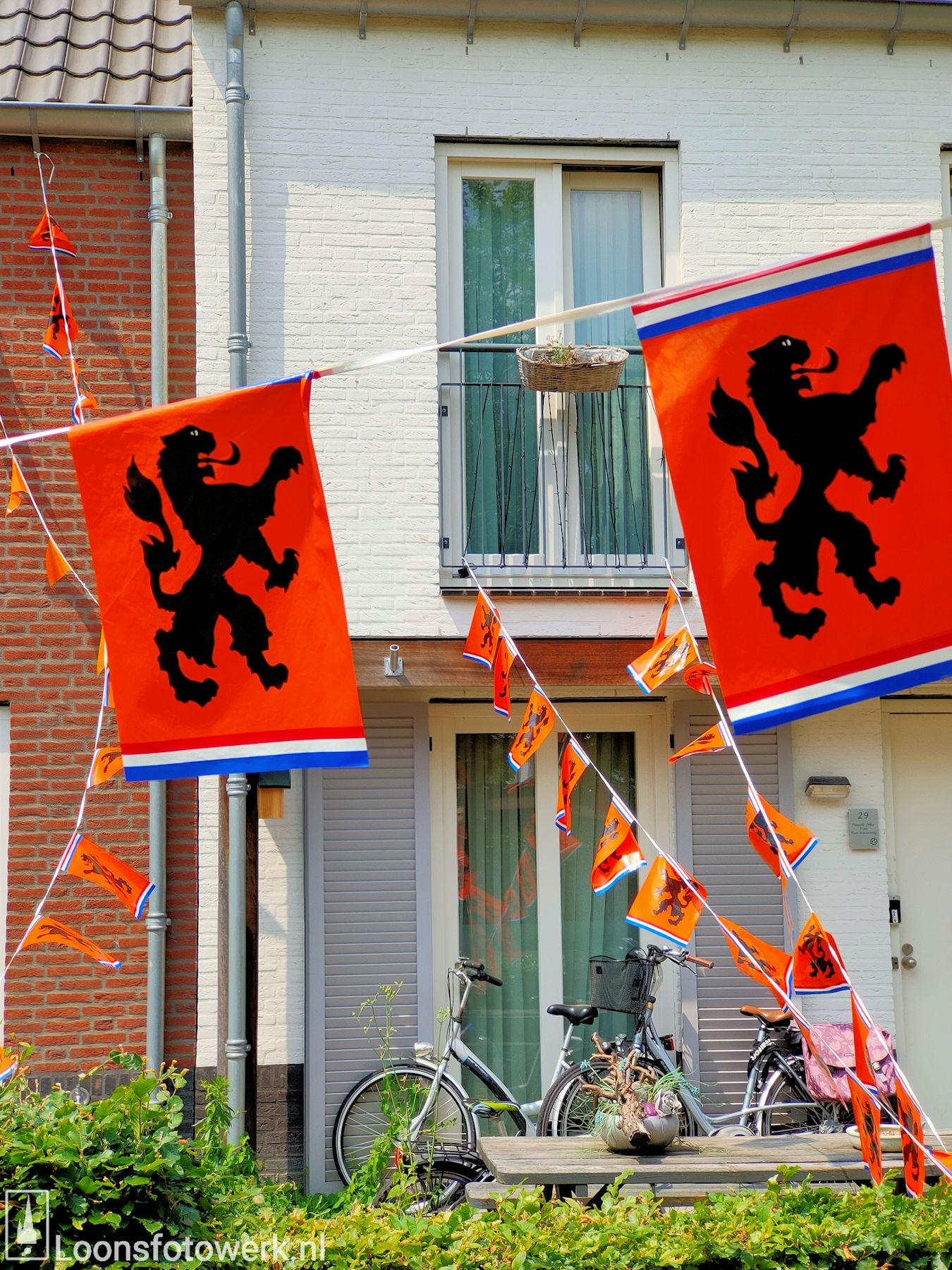 Loon kleurt oranje 35